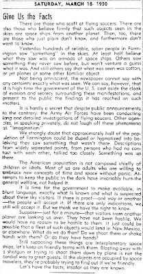 Give Us The Facts - Farmington Daily Times 3-18-1950