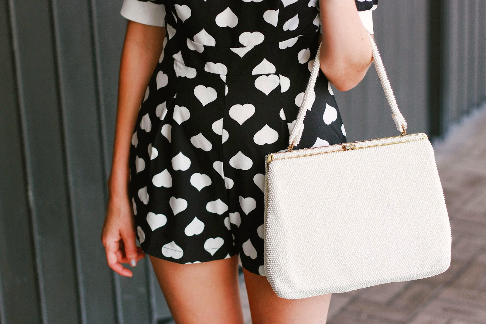 hearts and vintage bag