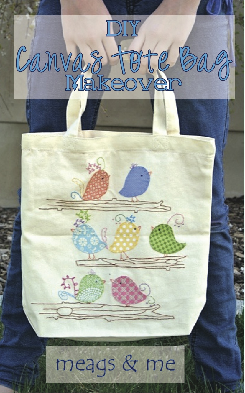 Meags me canvas tote bag makeovertutorial meags and me canvas tote bag makeover tutorial publicscrutiny Image collections