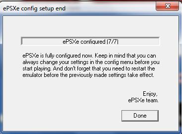 ePSXe Emulator 1.8.0 - Done
