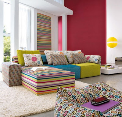 Bold Color Sofas to Decorate Living Room