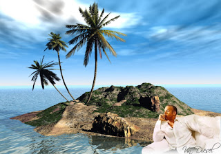 Vin Diesel Free Wallpapers Resting After an Action Movie in 3D Island background