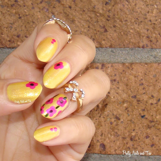 Sunny Days Inspired Easy Nail Art, Pure Ice Nail Polish