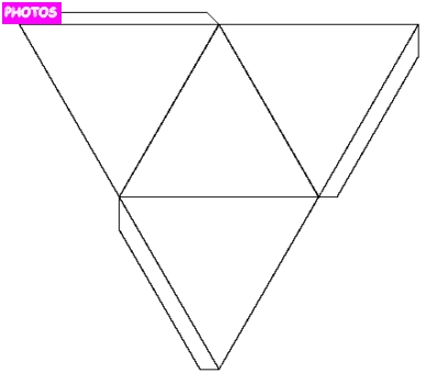how to make a triangular based pyramid net