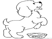 Dog Kids Coloring Sheet