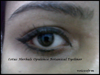 Lotus Herbals Opulence Botanical Eye Liner on my eyes