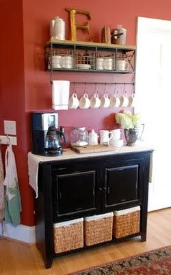 Coffee Bar Ideas ~ from the vintage wren