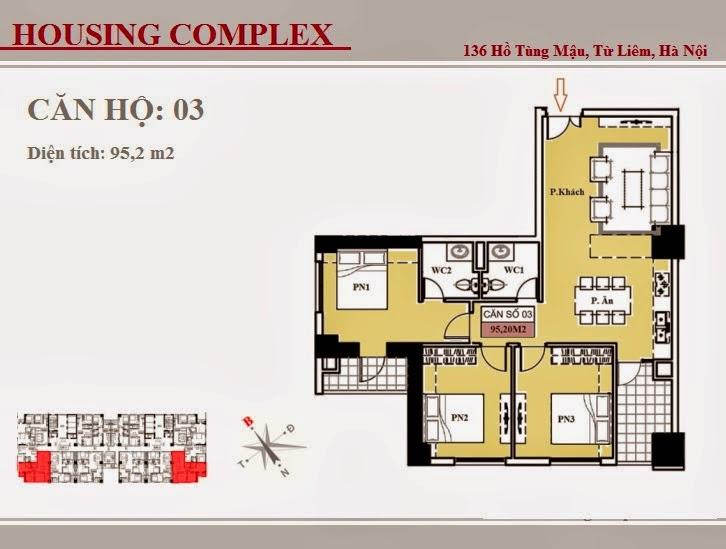 136 Hồ Tùng Mậu - Vinaconex 7 - Housing Complex - CH03