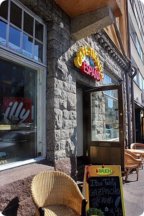 Cafe Tienda España -pala Espanjaa Hakaniemessä