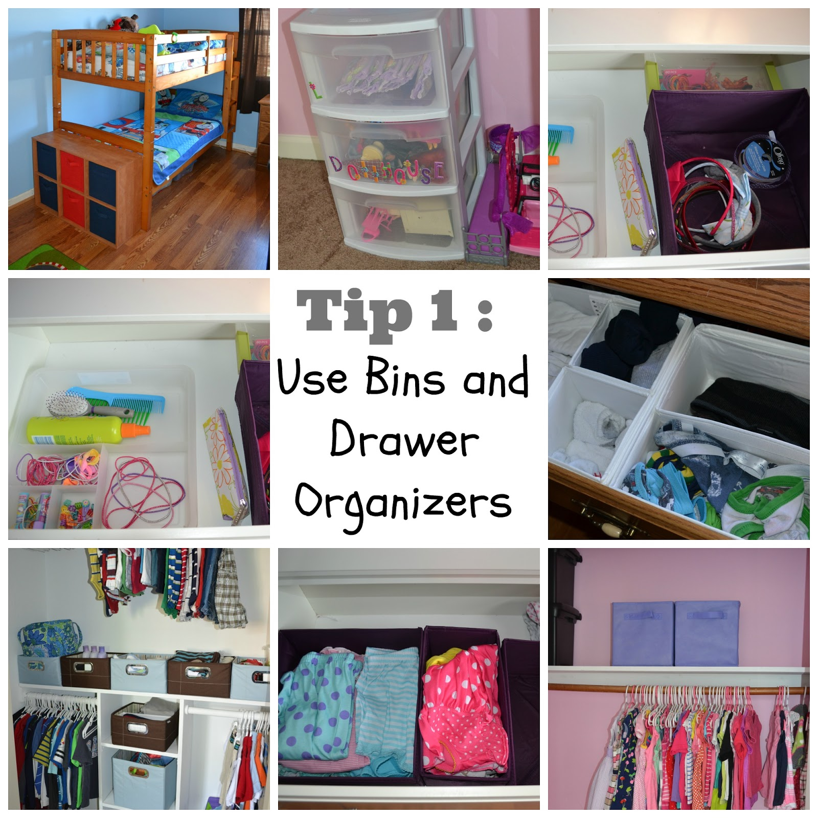 Happily a housewife kid bedroom organization for Bedroom organization