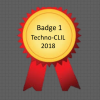 Digital badge for participating in Techno-CLIL 2018