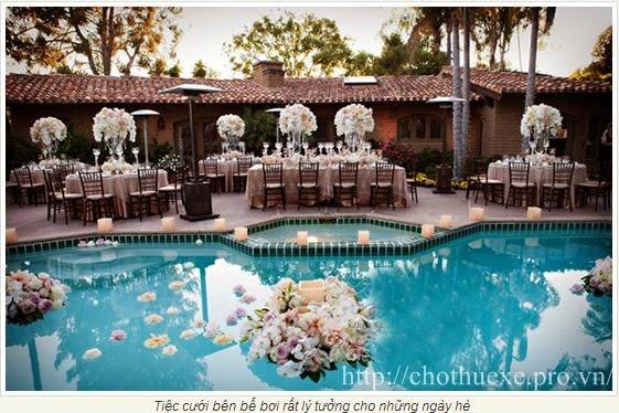 Những điều cần lưu ý khi tổ chức đám cưới mùa hè nóng bức này.