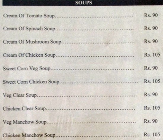 Veg Restaurants in Hyderabad Hotel Sadhvika Menu 4