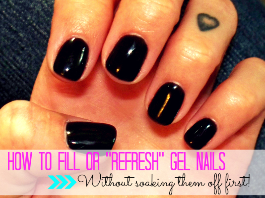 "Lulu & Sweet Pea: How to fill or ""refresh"" your at home gel mani"