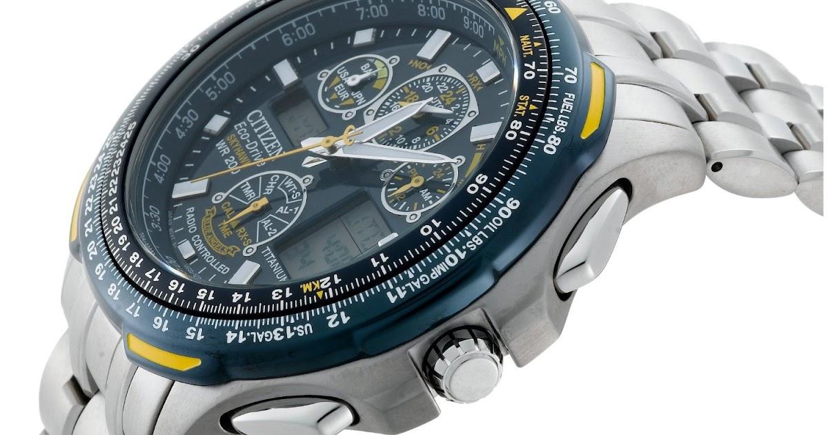 039a14c3ba0 Citizen Men s JY0050-55L Eco-Drive Blue Angels Skyhawk A-T Chronograph Titanium  Watch - Valentine