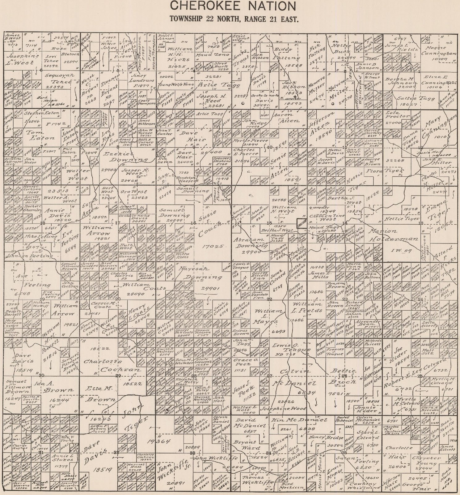 use this mayes county map to locate the general area of the township and range from the maps below