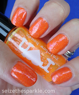 #31DC2015 Day 2 Orange Nails