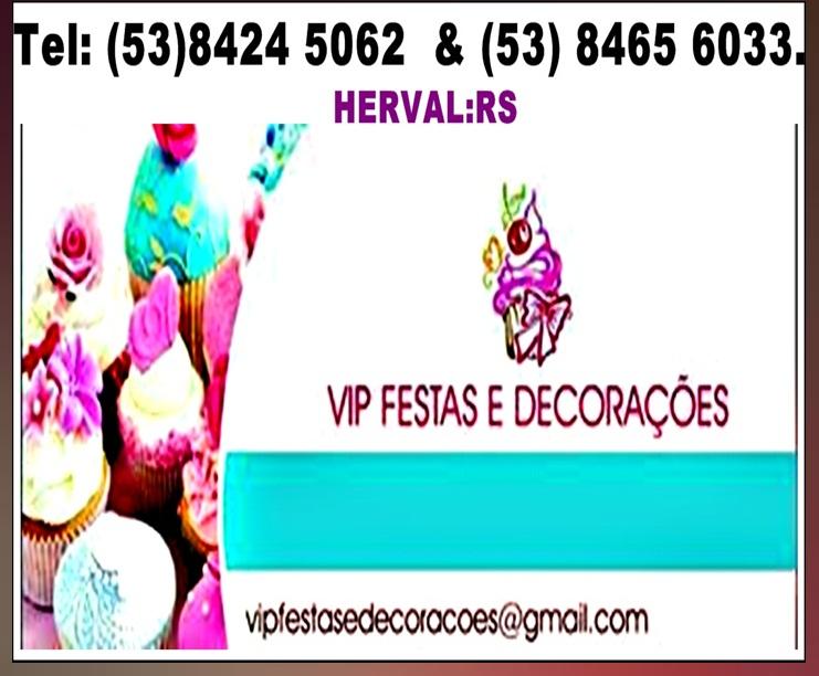 VIP FESTAS & DECORAÇÕES.