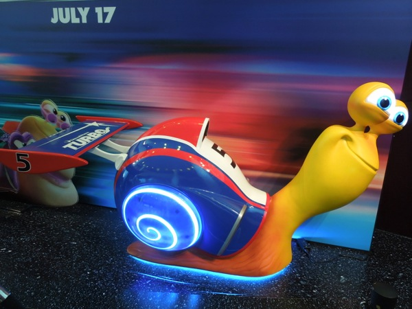 DreamWorks Turbo cinema standee