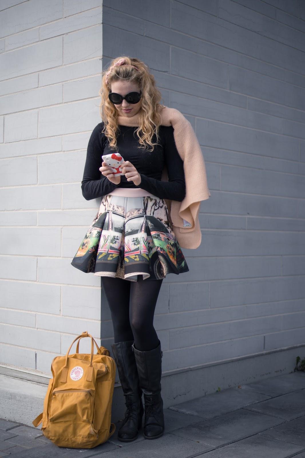 Street Style, Fashion Blogger, Queen's University, Annie Robinson, FABINCBLOG, Hello Kitty, Flamboyant Fashion, Girly Style, Teen Girl, Fashion Blogger Style