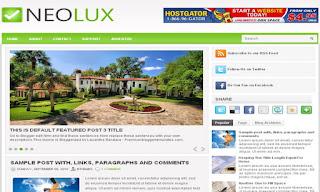 NeoLux Blogger Template