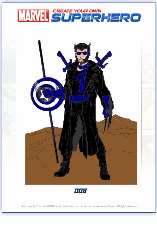 Create your own superhero for Create your own