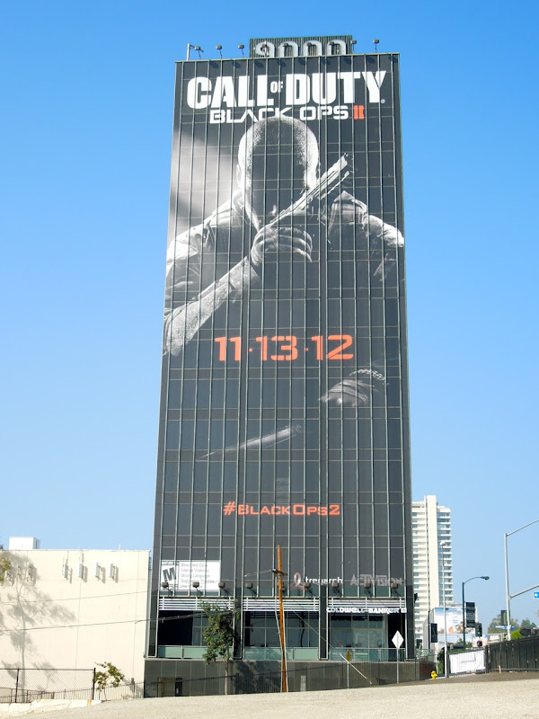 Giant Call of Duty Black Ops 2 game billboard