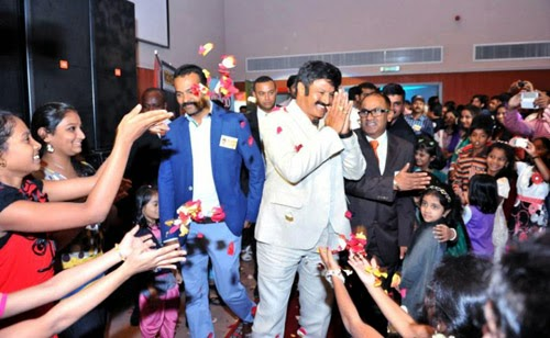 Balakrishna and Boyapati Srinu at Dubai Event