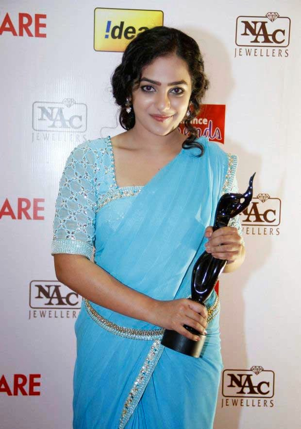 Nithya Menen at 61st Idea Filmfare Awards 2013 (South)