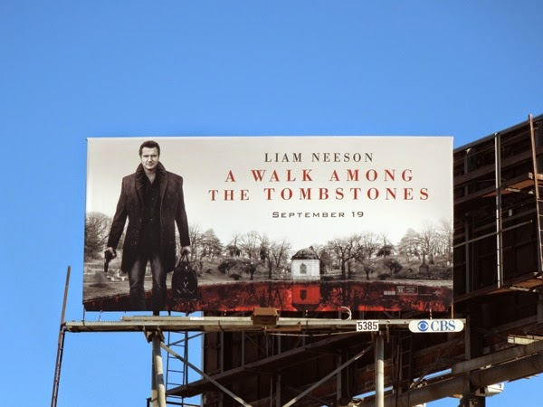 A Walk Among the Tombstones movie billboard
