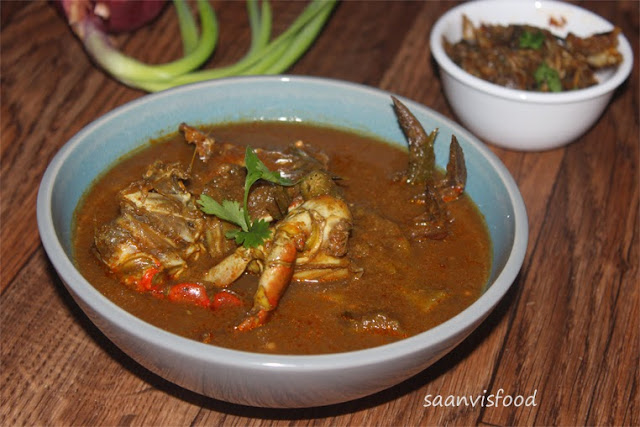 Peethala Pulusu / Crab cooked in Tamarind Sauce // Crab legs(Chelipeds) Pulp Curry