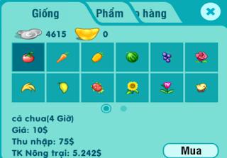 Bảng giá nâng cấp Nông Trại trong Game Avatar