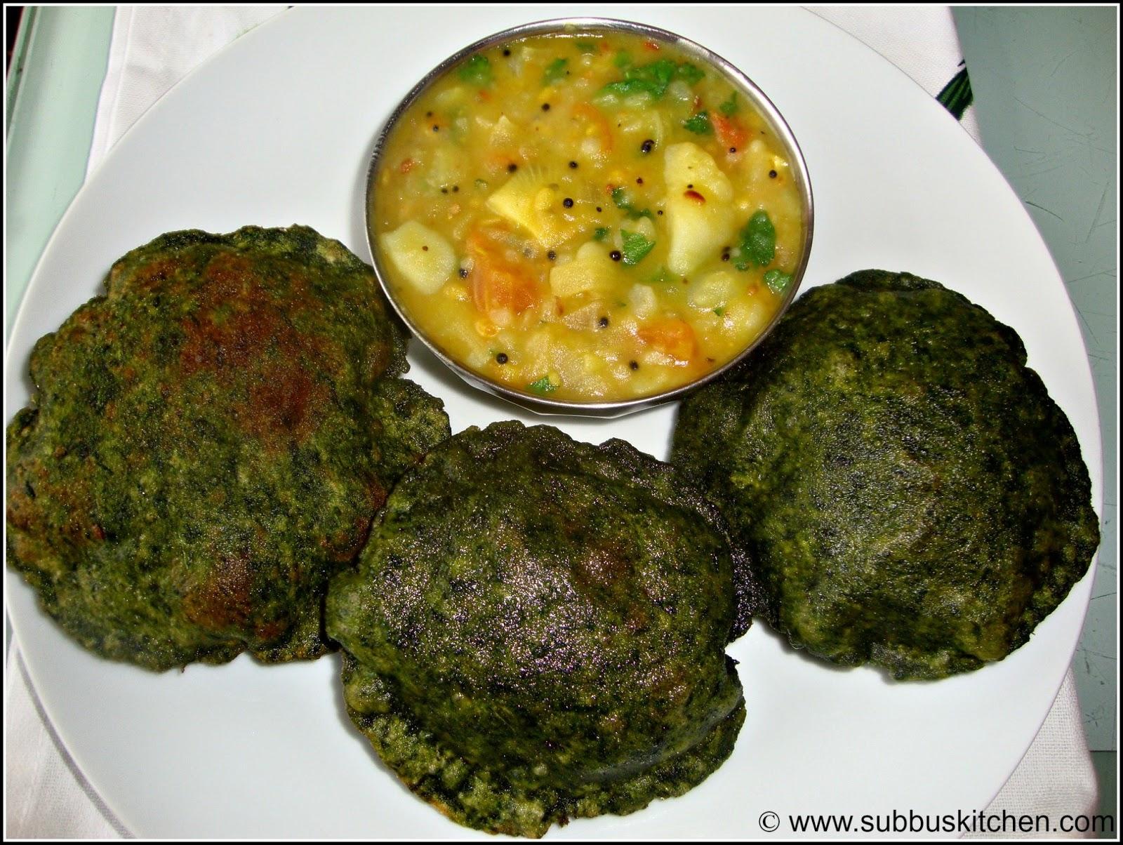 Methi(Vendhaya keerai) Poori