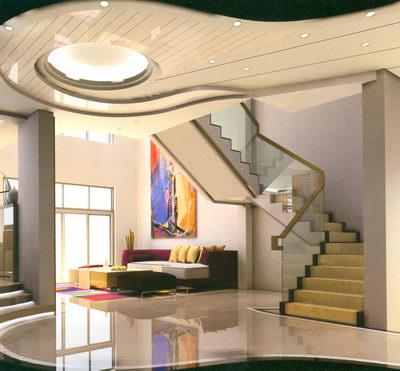 Arquitectura en dise o de interiores pasillos y escaleras for Diseno pasillos interiores