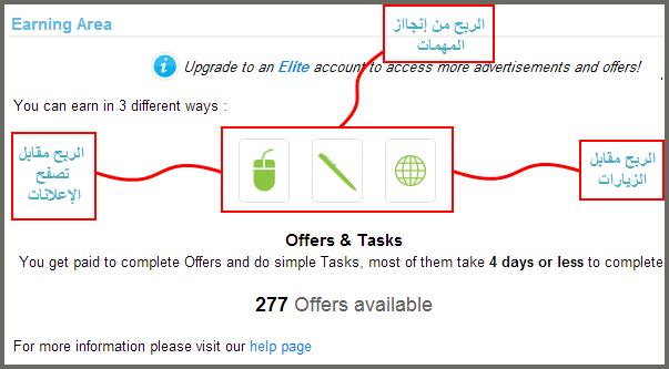 الشرح الممل لطرق اربح من موقع clicksia