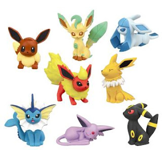 Pokemon Figure Eeveelutions Collection Dec 2013 TTA