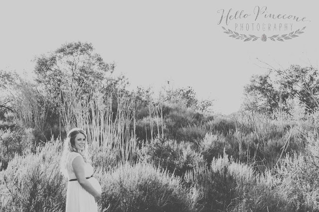 nature maternity shoot