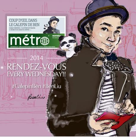 Calepin Ben Liu journal Metro Montreal