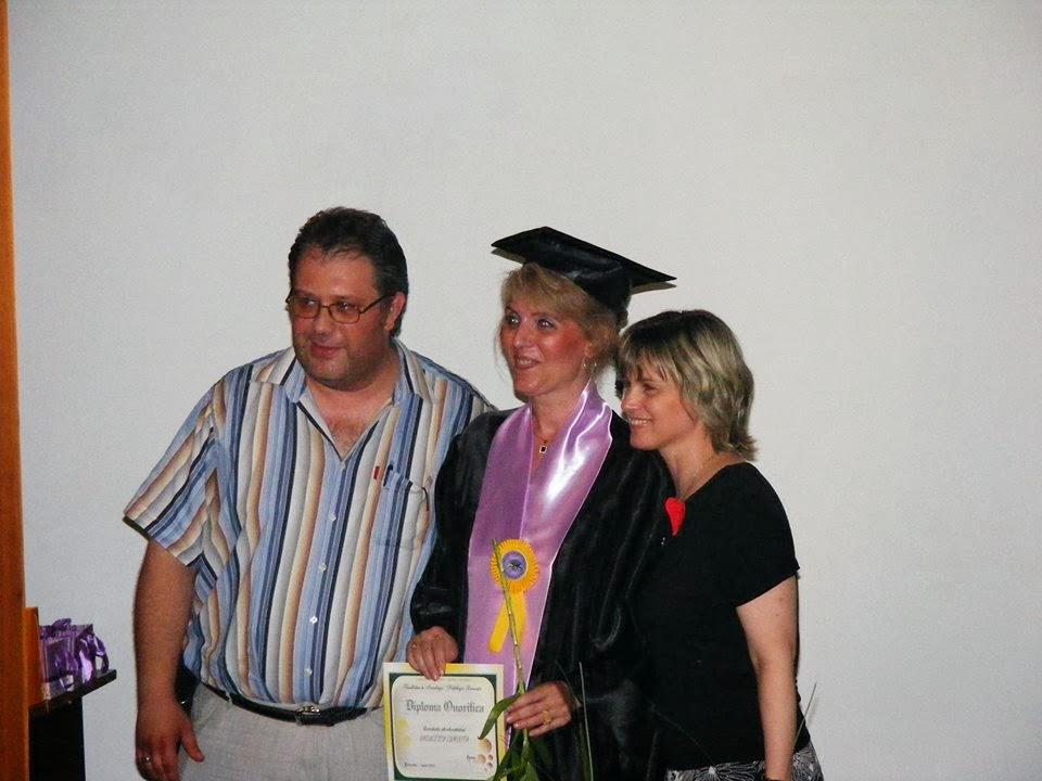 Colega Luminita Raileanu (Drept) si 2 profesori de la facultatea de Psihologie, USH 2013