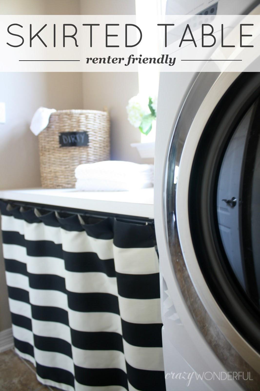 Skirted Laundry Room Table U2013 Renter Friendly