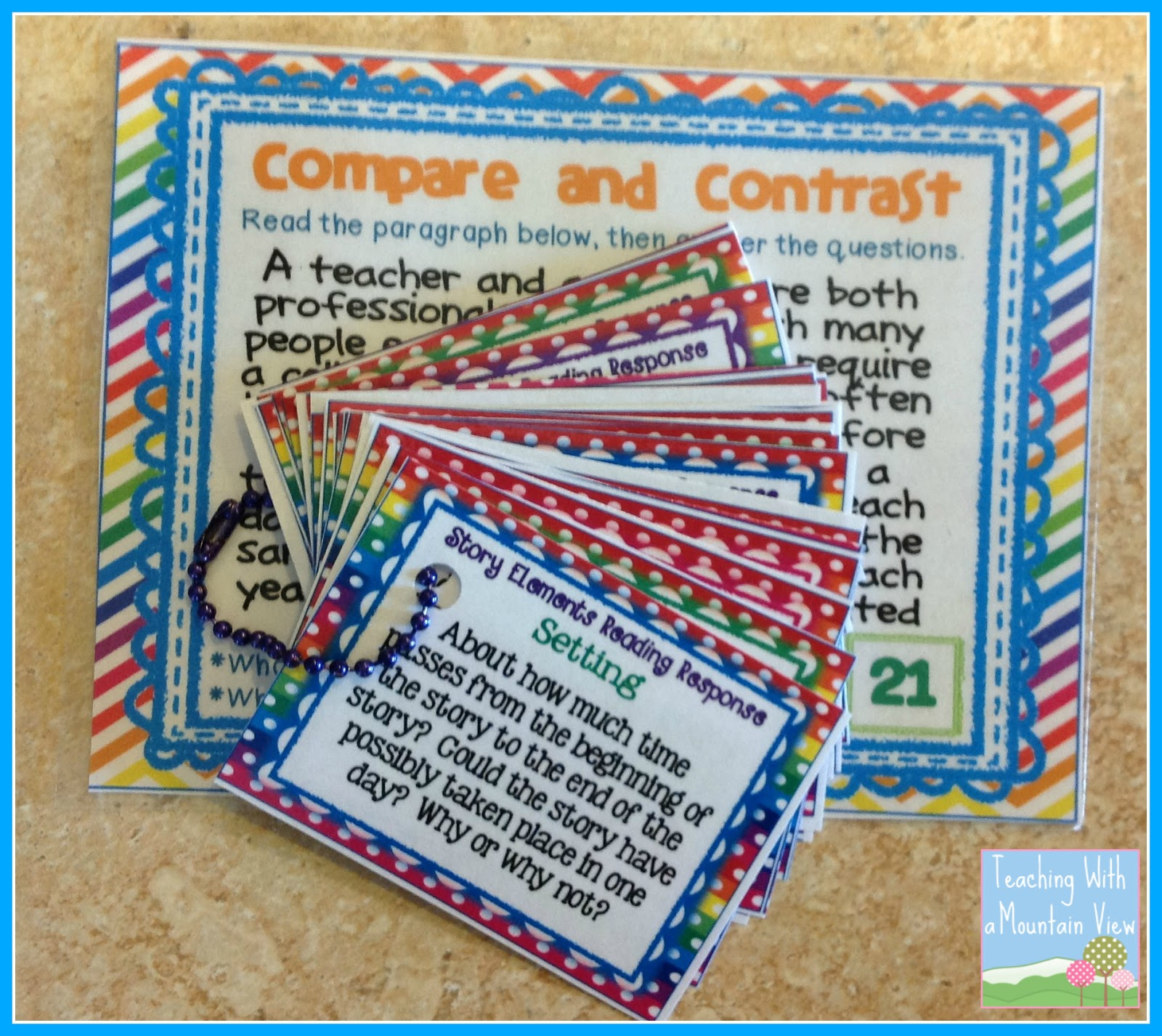 compare and contrast questions 3rd grade