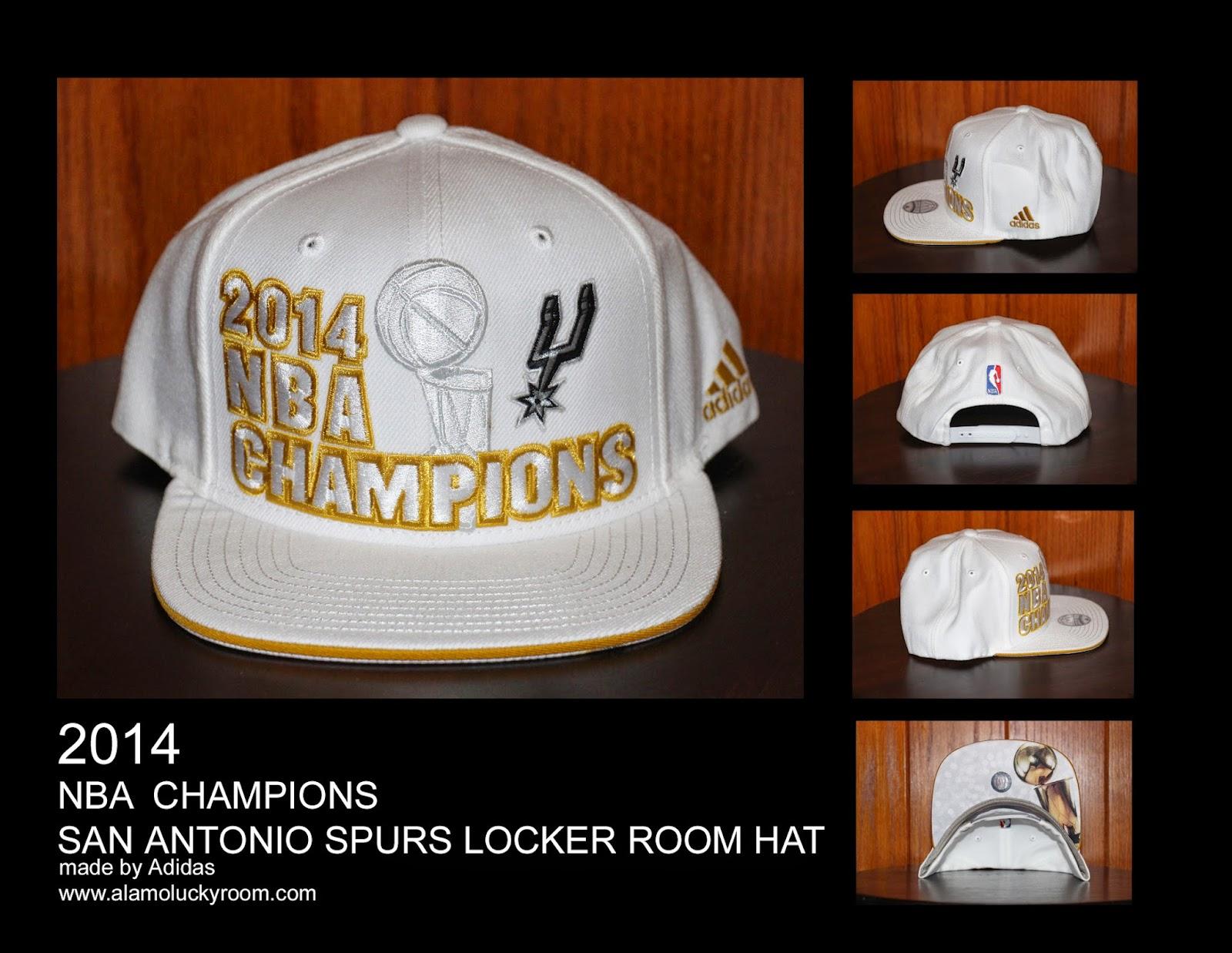 c7ae4e71085 Alamo Lucky Room  2014 San Antonio Spurs NBA Champions Locker Room Hat
