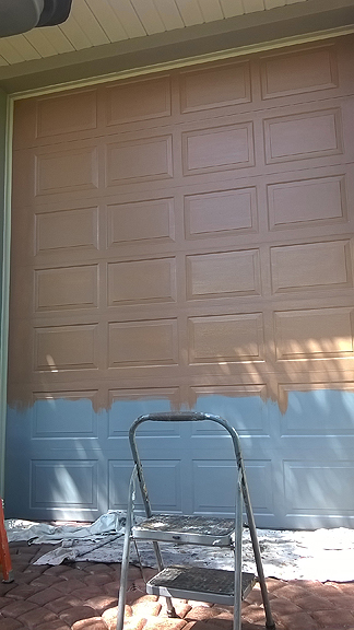Paint A Rv Garage Door To Look Like Wood Everything I