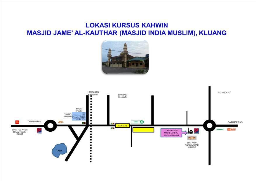 Peta Lokasi Kursus Kluang