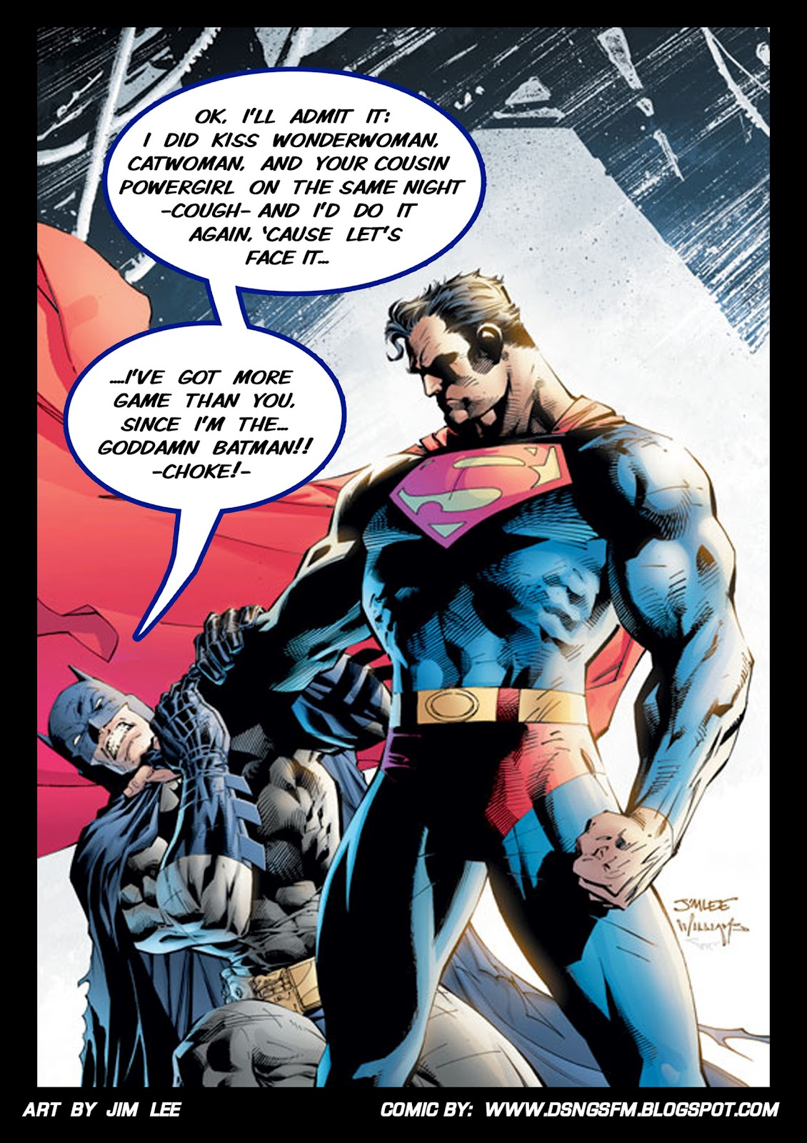 http://1.bp.blogspot.com/-BfIFyMVgs_Q/UAJxmjYBS1I/AAAAAAAAGX0/z3uAvC3HThc/s1600/batman+612+superman+fight+funny+humor+dc+COMICS+new+52+classic+jim+lee+joke+motivational+demotivational+poster+wallpaper.jpg