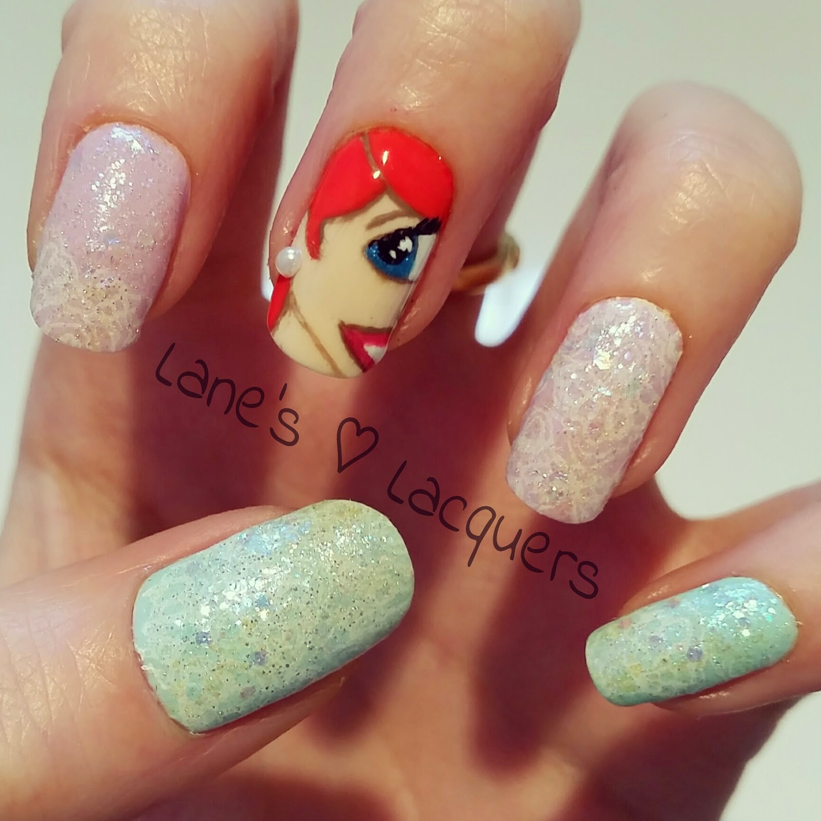 barry-m-disney-little-mermaid-ariel-lace-glitter-nail-art (2)