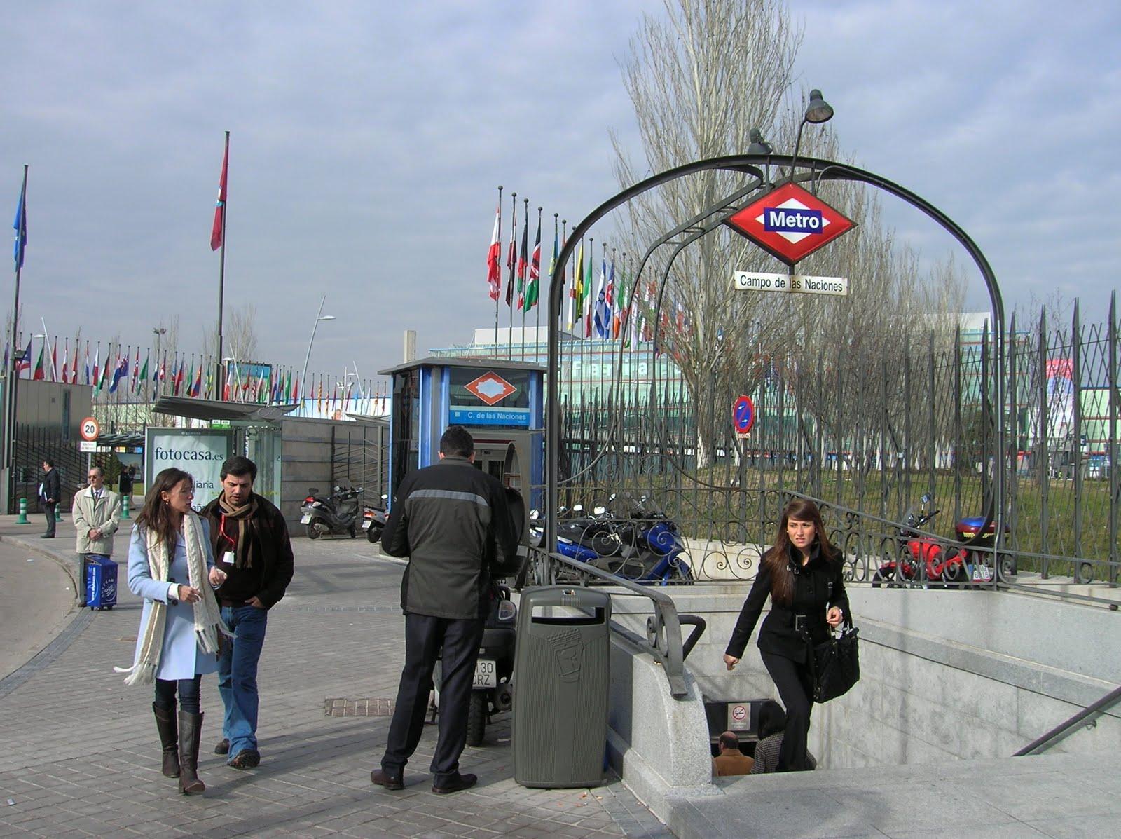 Fitur, parada metro Ifema, metro Madrid, vuelta al mundo, round the world, La vuelta al mundo de Asun y Ricardo