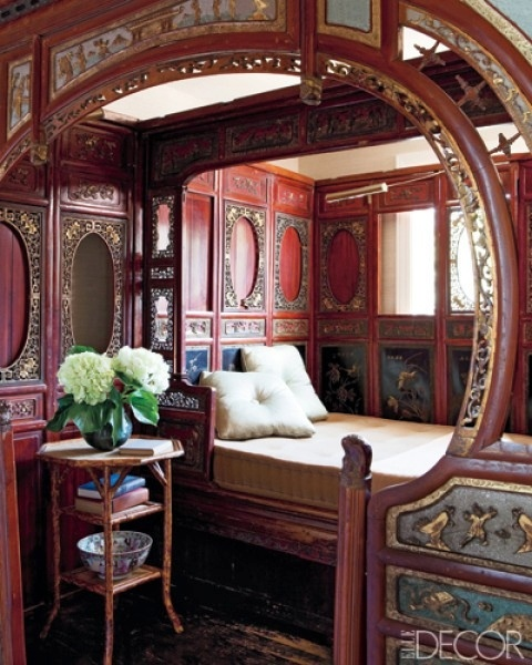 Gypsy Caravan Interior Via Elle Decor. The Ornate Woodwork With Painted  Panels Are To Me, Reminiscent Of An Antique Carousel.