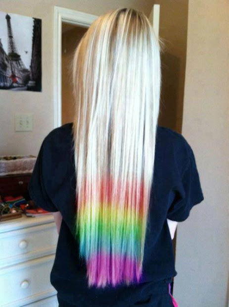 cabelo arco iris nas pontas dicas