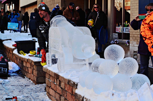 Ice Carving Niles Ice Festival